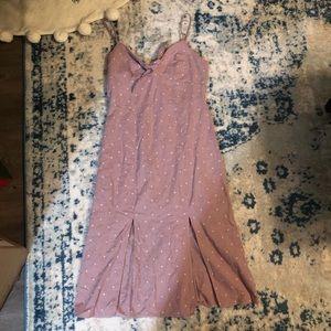 American Eagle Outfitters Mauve Polka Dot dress